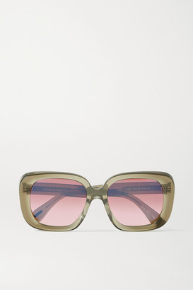 Oliver Peoples Nella Oversized Square-frame Acetate Sunglasses - Tan