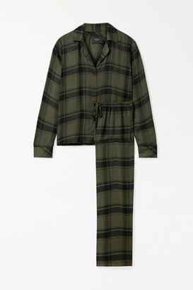 Rails Clara Checked Flannel Pajama Set - Green