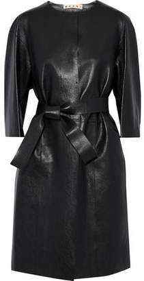 Marni Belted Leather Coat