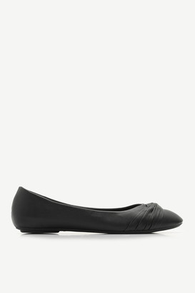 Ardene Faux Leather Pleated Flats