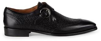 Mezlan Leather Monk-Strap Shoes