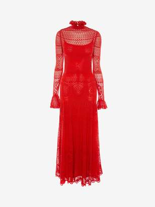 Alexander McQueen Engineered Lace Knitted Dress