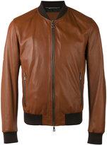 Dolce & Gabbana bomber jacket - men - Cotton/Lamb Skin/Polyamide/Viscose - 48
