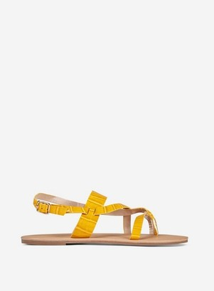 Dorothy Perkins Womens Wide Fit Yellow 'Fabienne' Sandals, Yellow