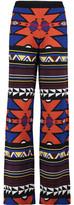 Stella Jean Intarsia Wool Wide-Leg Pants