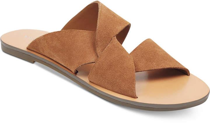 Marc Fisher Bomie Knot Flat Sandals Women Shoes