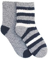 Universal Textiles Childrens Boys Striped Winter Slipper Socks (Pack Of 2)