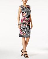 ECI Pique Printed Sheath Dress