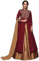 Shoppingover Bollywood Style semi stitch Front Open Lehenga Anarkali- Color