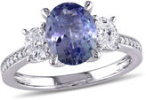 MODERN BRIDE Womens Purple Tanzanite 14K Gold Engagement Ring