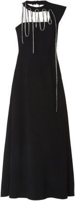 Christopher Kane Crystal-Embellished One-Shoulder Crepe Gown