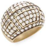 Heidi Daus Crystallicious Swarovski Crystal & Multicolored Rhinestone Dome Ring