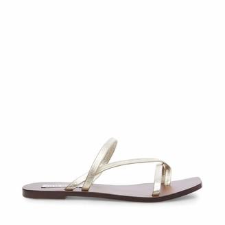 Steve Madden Janessa Flat Sandal Gold Leather 6 M