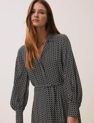 Marks and Spencer Geometric V-Neck Midaxi Shirt Dress