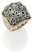 Konstantino Classics 18K Yellow Gold & Sterling Silver Floral Filigree Ring