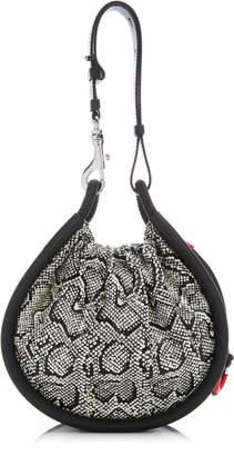 Proenza Schouler Canteen Snake-Effect Leather Top Handle Bag