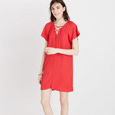 Madewell Lace-Up Flutter Dress