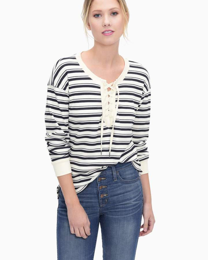 Splendid Anchorage Stripe Lace Up Tunic