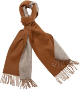 One Kings Lane Reversible Cashmere Scarf, Camel/Taupe