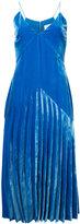 Dion Lee velvet pleat dress