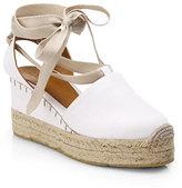 Ralph Lauren Uma Tie-Up Canvas Espadrille Sandals