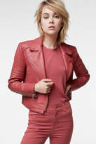 J Brand Aiah Leather Jacket In Begonia