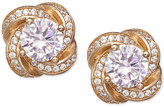 Giani Bernini Cubic Zirconia Love Knot Stud Earrings in Gold-Plated Sterling Silver, Only at Macy's