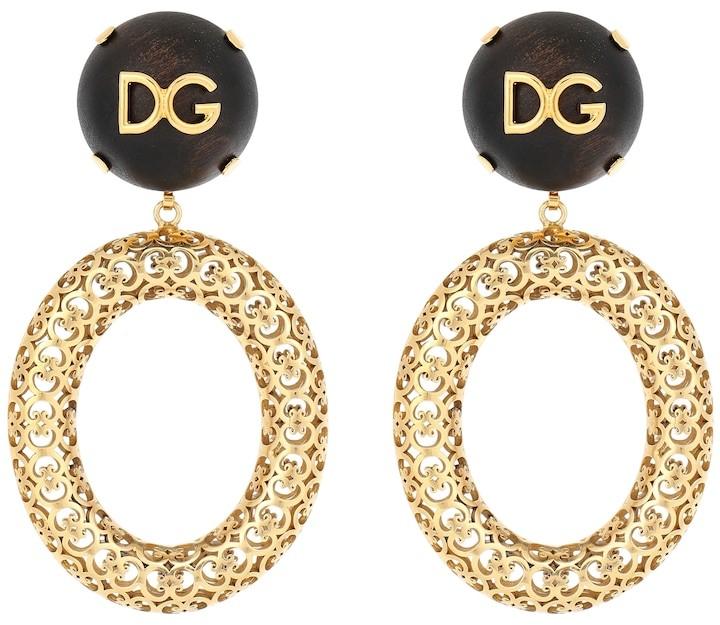 Dolce & Gabbana Logo clip-on hoop earrings