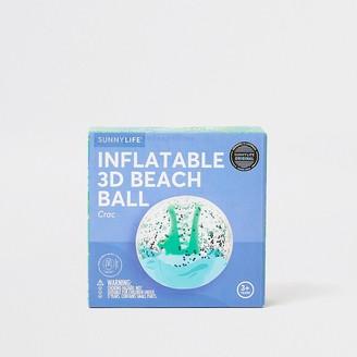 River Island Boys blue crocodile beach ball