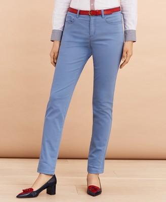 Brooks Brothers Stretch Cotton Sateen Five-Pocket Pants
