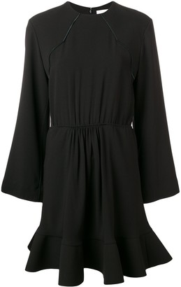 Chloé Contrast Stitching Flared Dress