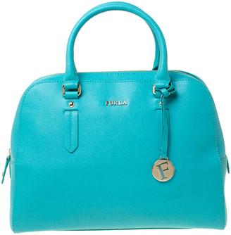 Furla Turquoise Leather Large Tessa Satchel