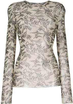 Stefano Mortari Sheer Printed Top