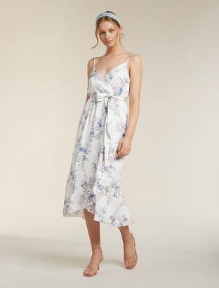 Ever New Talia Floral Wrap Midi Dress