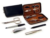 Taylor of Old Bond Street Black Leather Manicure Set