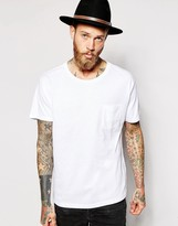 Dr Denim T-shirt Russ One Pocket - White