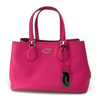 Coach Crossgrain Kitt Carry All Pink Leather Handbags