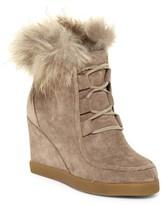 Cecelia New York Hailey Genuine Fox Fur Wedge Boot