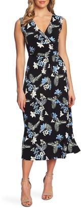 Chaus Tropical Oasis Faux Wrap Dress