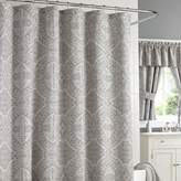 J Queen New York Colette 72-Inch x 95-Inch Extra-Long Shower Curtain in Silver