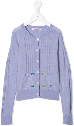 Familiar Cable Knit Cardigan
