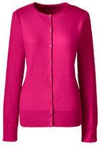 Lands' End Women's Petite Supima Cotton Cardigan Sweater-Gemstone Teal
