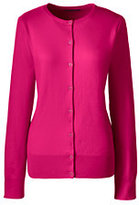 Lands' End Women's Plus Size Supima Cotton Cardigan Sweater-Gemstone Teal