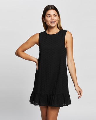 Atmos & Here Jolie Broiderie Sleeveless Mini Dress