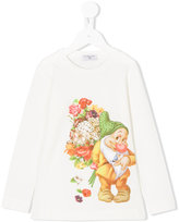 MonnaLisa gnome printed top - kids - Cotton/Spandex/Elastane - 2 yrs