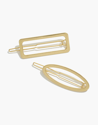 Madewell Two-Pack Open Shape Hair Clips