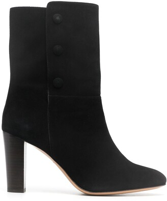 Tila March Heeled Leather Ankle Boots