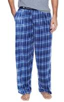 Ben Sherman Men's Plaid Micro Fleece Sweatpants