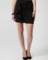 Le Château Knit Ruffle Mini Skirt