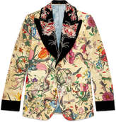 Gucci Flora Snake Heritage jacket with detachable lapel